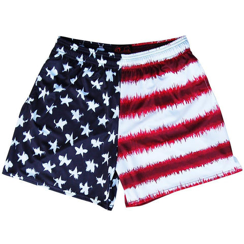 American Flag Tie Dye Rugby Shorts