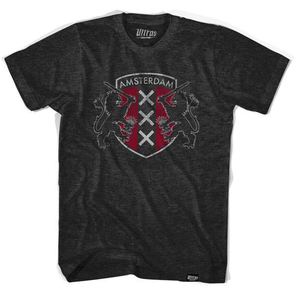Amsterdam Crest T-shirt in Tri-Black by Ultras