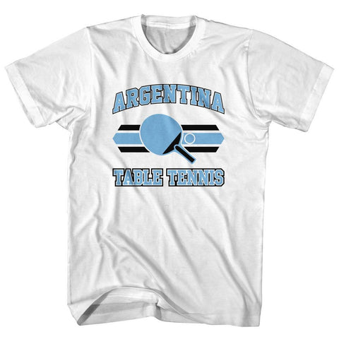 Argentina Table Tennis Adult Cotton T-shirt