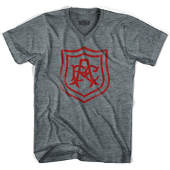 Ultras Arsenal Vintage AFC Crest V-neck T-shirt in Athletic Grey by Ultras