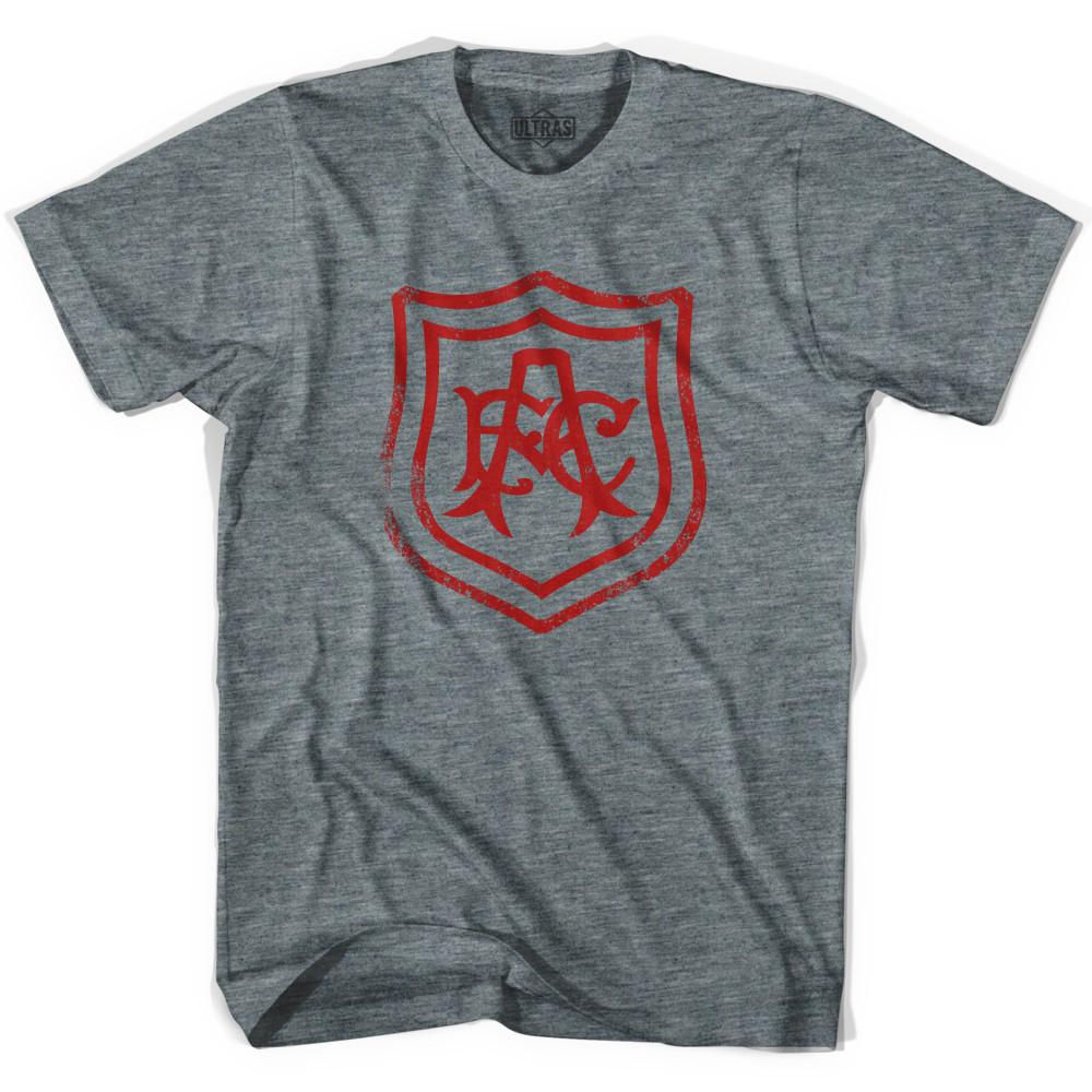 Ultras Arsenal Vintage AFC Crest Soccer T-shirt in Athletic Grey by Ultras
