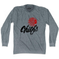 Ultras Atlanta Chiefs 1967 Soccer Ultras Soccer Long Sleeve T-shirt in Athletic Grey by Ultras