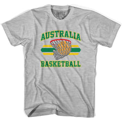 Australia 90's Basketball T-shirt in Grey Heather by Billy Hoyle
