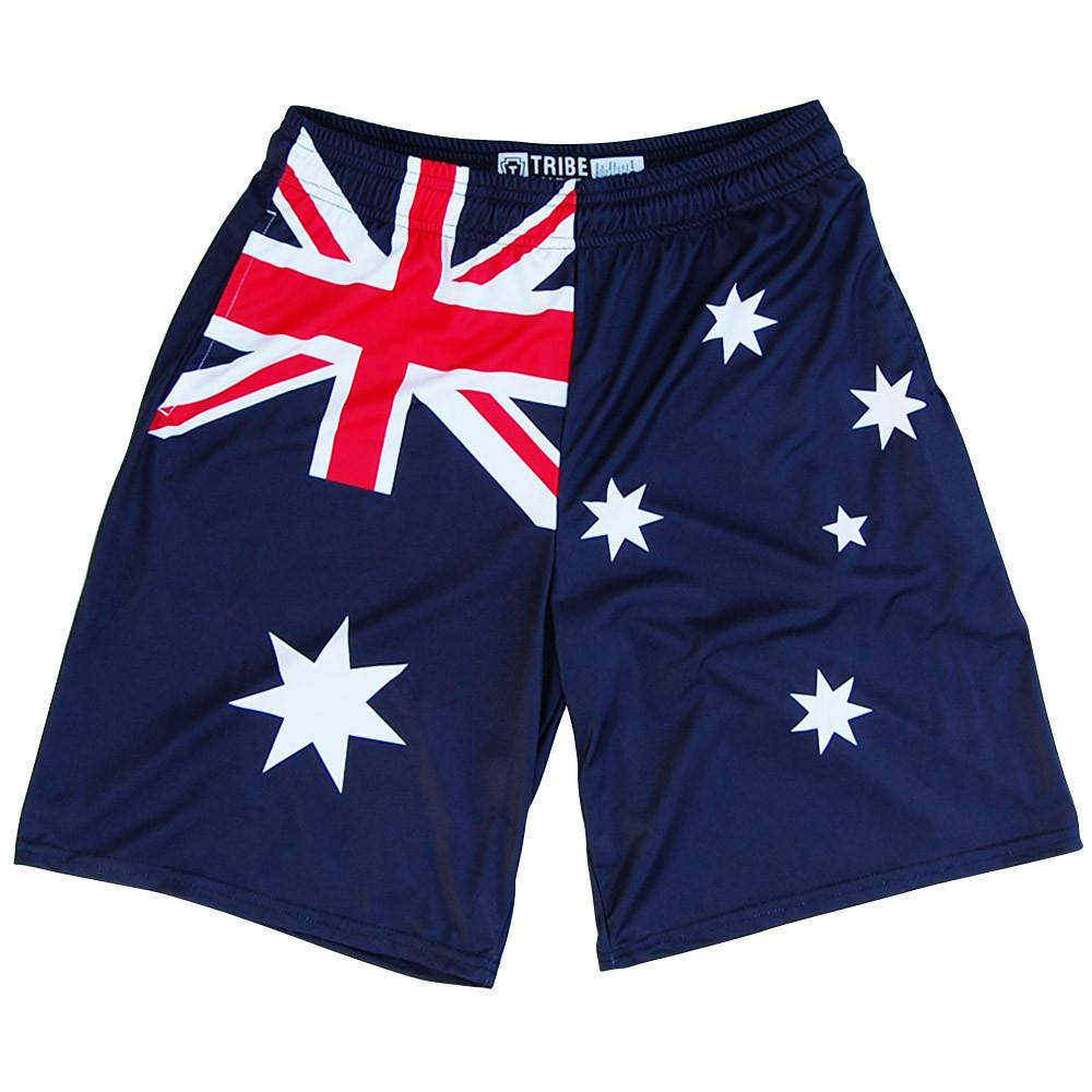 Australia Flag Lacrosse Shorts in Navy by Tribe Lacrosse