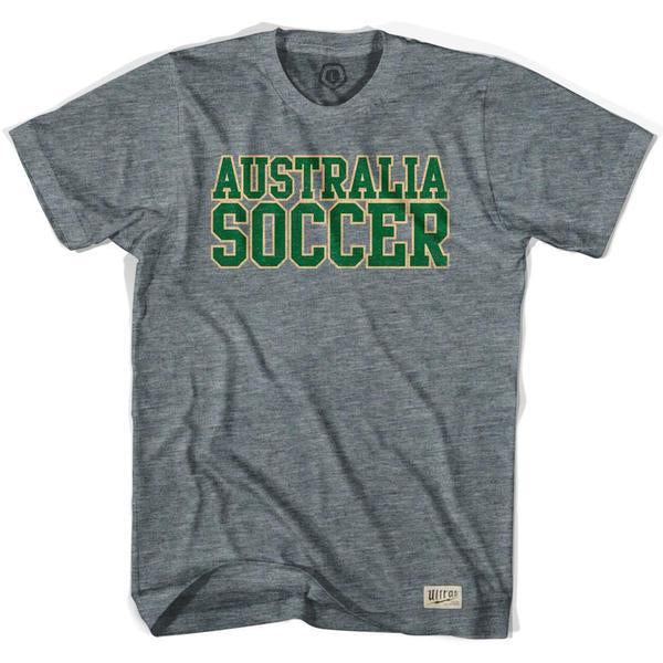 Australia Football Nation Soccer T-shirt in Athletic Grey by Ultras