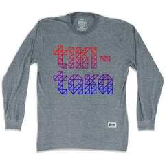 Barcelona Tiki Taka Soccer Long Sleeve T-shirt in Athletic Grey by Ultras