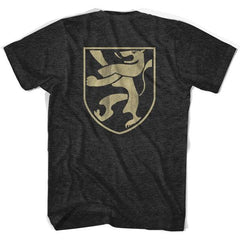 Belgium Retro Crest T-shirt in Black by Ultras
