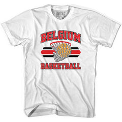 Belgium 90's Basketball T-shirts in Grey Heather by Billy Hoyle