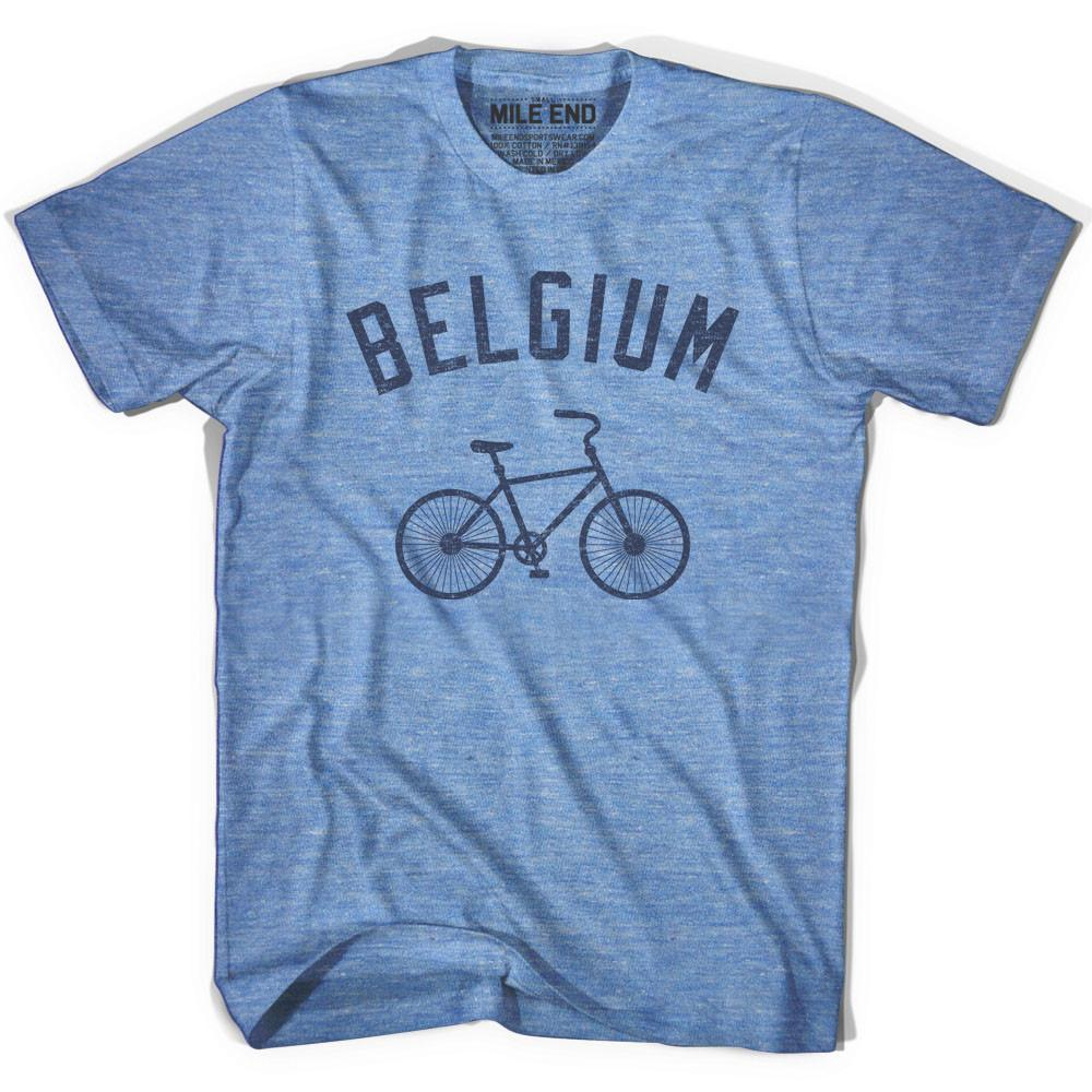 Belgium Vintage Bike T-shirt in Athletic Blue by Mile End Sportswear