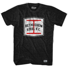 Bethlehem Steel FC Socer Crest T-shirt in Tri-Black by Ultras