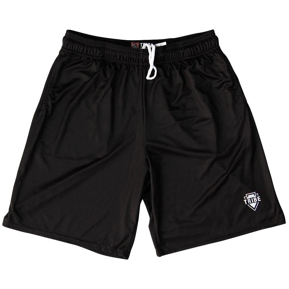 Tribe Black Lacrosse Shorts in Black by Tribe Lacrosse
