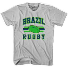 Brazil 90's Rugby Ball T-shirt in White by Ruckus Rugby