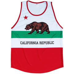 California Flag Sport Tank in Nay by Tribe Lacrosse