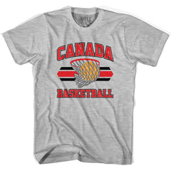 Canada 90's Basketball T-shirts in Grey Heather by Billy Hoyle