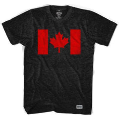 Canada Flag Vintage T-shirt in Black by Ultras