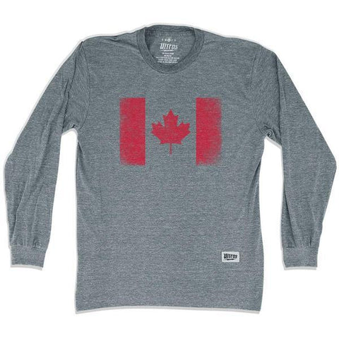 Canada Vintage Flag Soccer Long Sleeve T-shirt