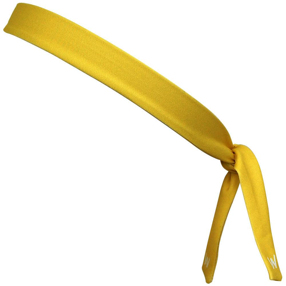 "Canary Yellow Elastic Tie Skinny 1"" Headband in Canary by Wicked Headbands"