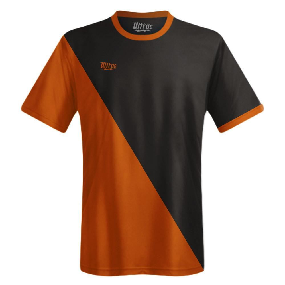 Ultras Custom Capitol Team Soccer Jersey in Black/BrightOrange by Ultras