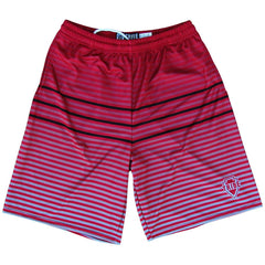 Tribe Ombre Striped? Lacrosse Shorts in Cardinal by Tribe Lacrosse