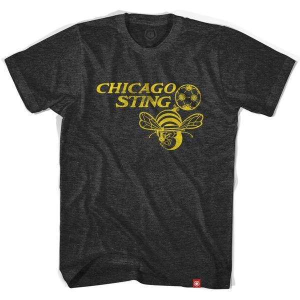 Chicago Sting Soccer T-shirt in Black by Ultras