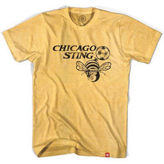 Chicago Sting Soccer T-shirt in Heather Gold by Ultras