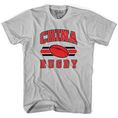 China 90's Rugby Ball T-shirt in White by Ruckus Rugby