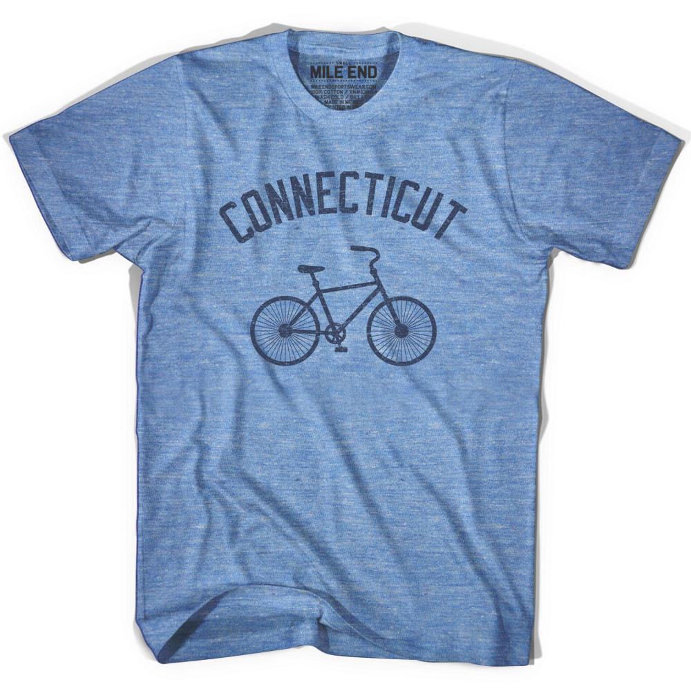 Connecticut Vintage Bike T-shirt in Athletic Blue by Mile End Sportswear