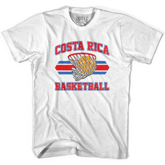 Costa Rica 90's Basketball T-shirts in Grey Heather by Billy Hoyle