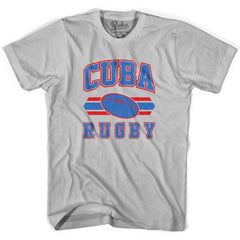 Cuba 90's Rugby Ball T-shirt in White by Ruckus Rugby