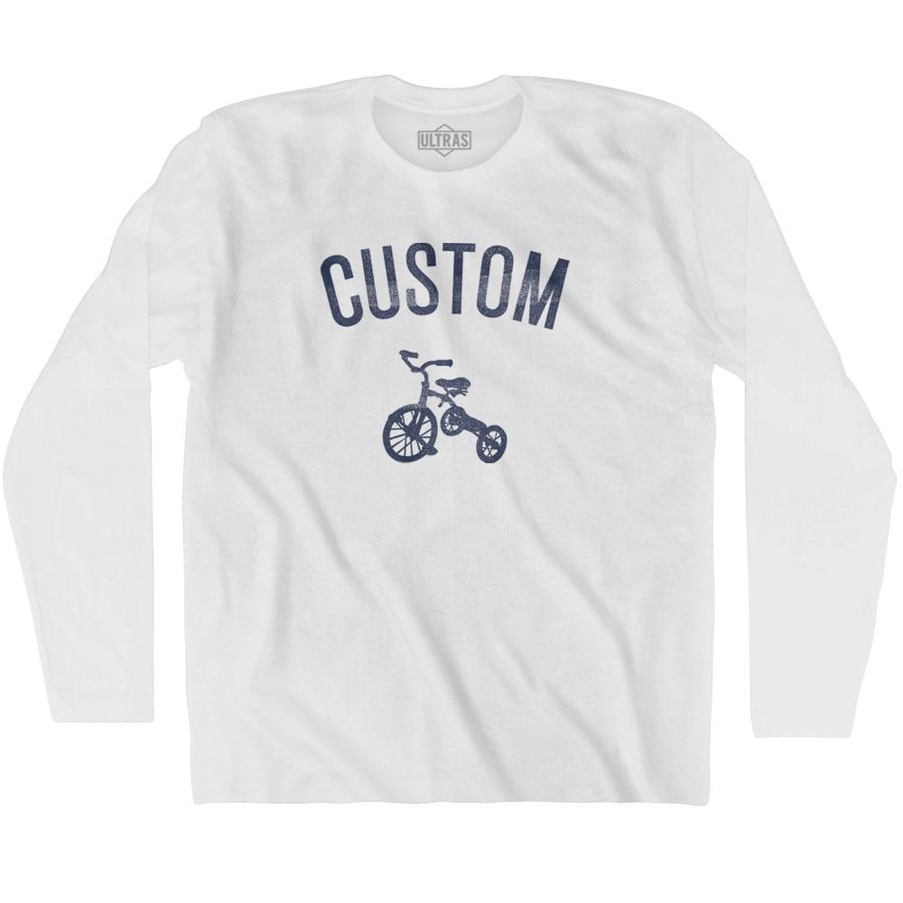 Custom City Tricycle Long Sleeve T-shirt By Ultras
