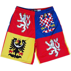 Czech Republic Coat of Arms Lacrosse Shorts in Blue by Tribe Lacrosse