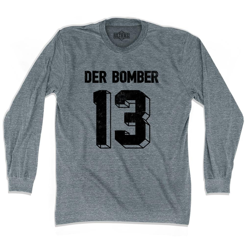 Ultras Gerd Muller Der Bomber 13 Soccer Long Sleeve T-shirt by Ultras