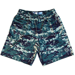 Digital Army Camo Lacrosse Shorts in Green by Tribe Lacrosse