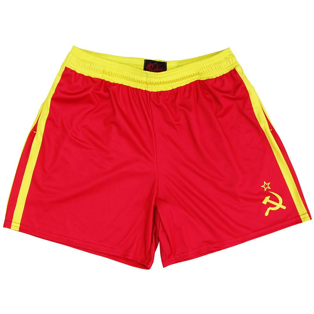 Drago Roacky Rugby Shorts in Red and Yellow by Ruckus Rugby