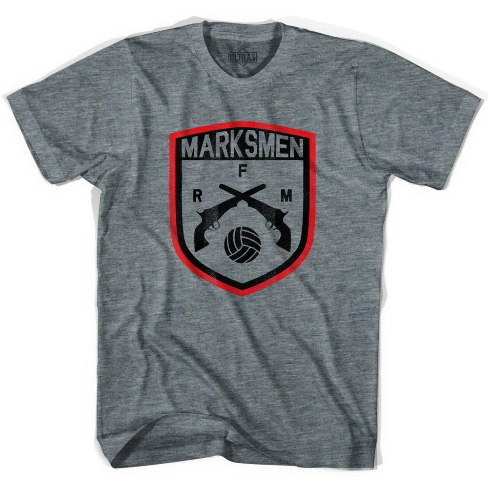 Ultras Fall River Marksmen Soccer Ultras Soccer T-shirt in Athletic Grey by Ultras