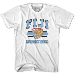 Fiji 90's Basketball T-shirts in Grey Heather by Billy Hoyle