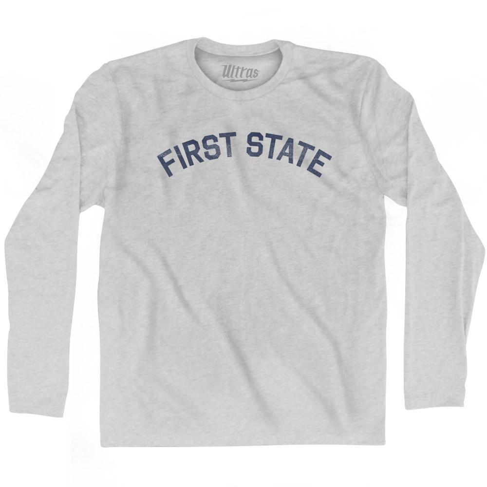 Delaware First State Nickname Adult Cotton Long Sleeve T-shirt by Ultras