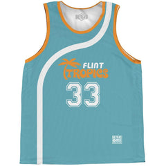 Flint Tropics Moon #33 Basketball Practice Singlet Jersey BY Ultras Basketball
