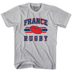 France 90's Rugby Ball T-shirt in White by Ruckus Rugby