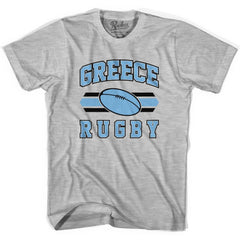 Greece 90's Rugby Ball T-shirt in White by Ruckus Rugby