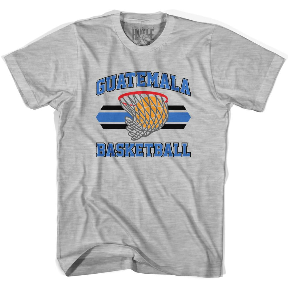Guatemala 90's Basketball T-shirts in Grey Heather by Billy Hoyle