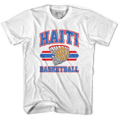 Haiti 90's Basketball T-shirts in Grey Heather by Billy Hoyle