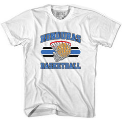 Honduras 90's Basketball T-shirts in Grey Heather by Billy Hoyle