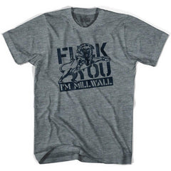Ultras I'm Millwall Soccer T-shirt in Athletic Grey by Ultras