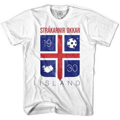 Iceland Island Crest Soccer T-shirt in White by Ultras