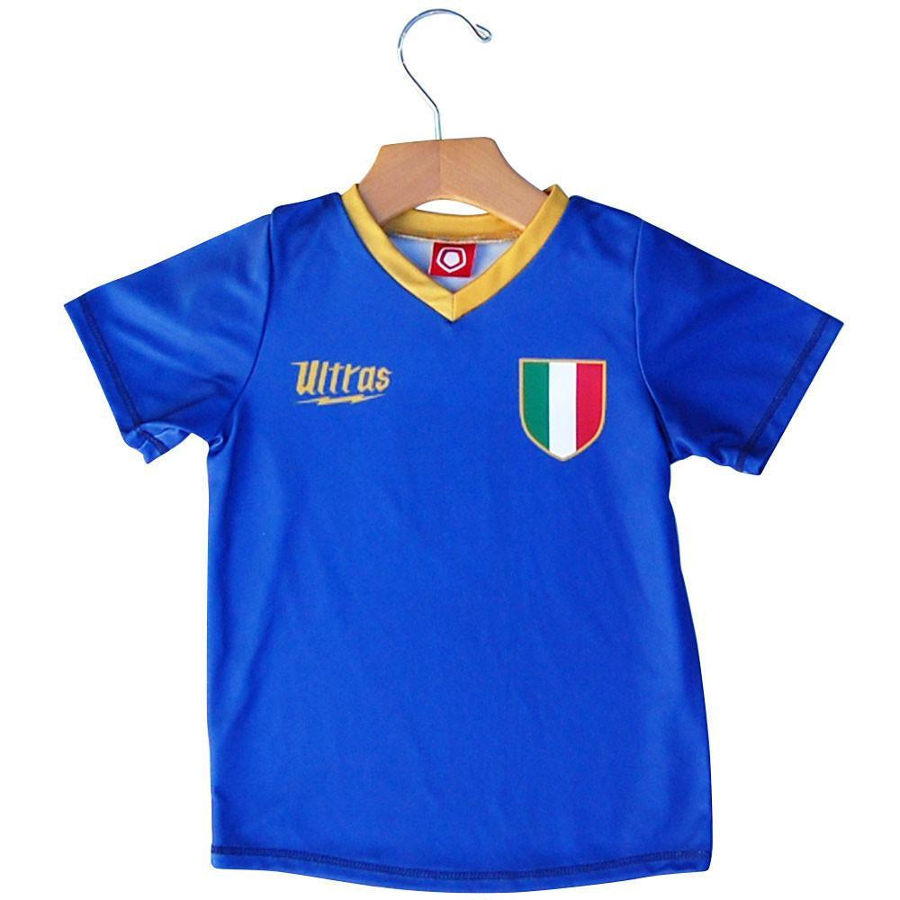 Italy Crest #10 Kids Soccer Jersey in Royal by Ultras