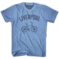 Liverpool Vintage Bike T-shirt in Athletic Blue by Mile End Sportswear