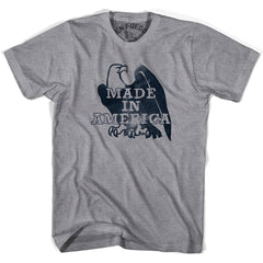 Made In America Eagle T-shirt in Grey Heather by Billy Hoyle