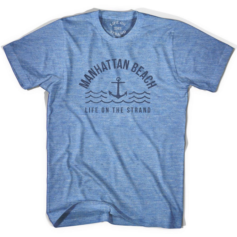 Manhattan Anchor Life on the Strand T-shirt in Athletic Blue by Life On the Strand