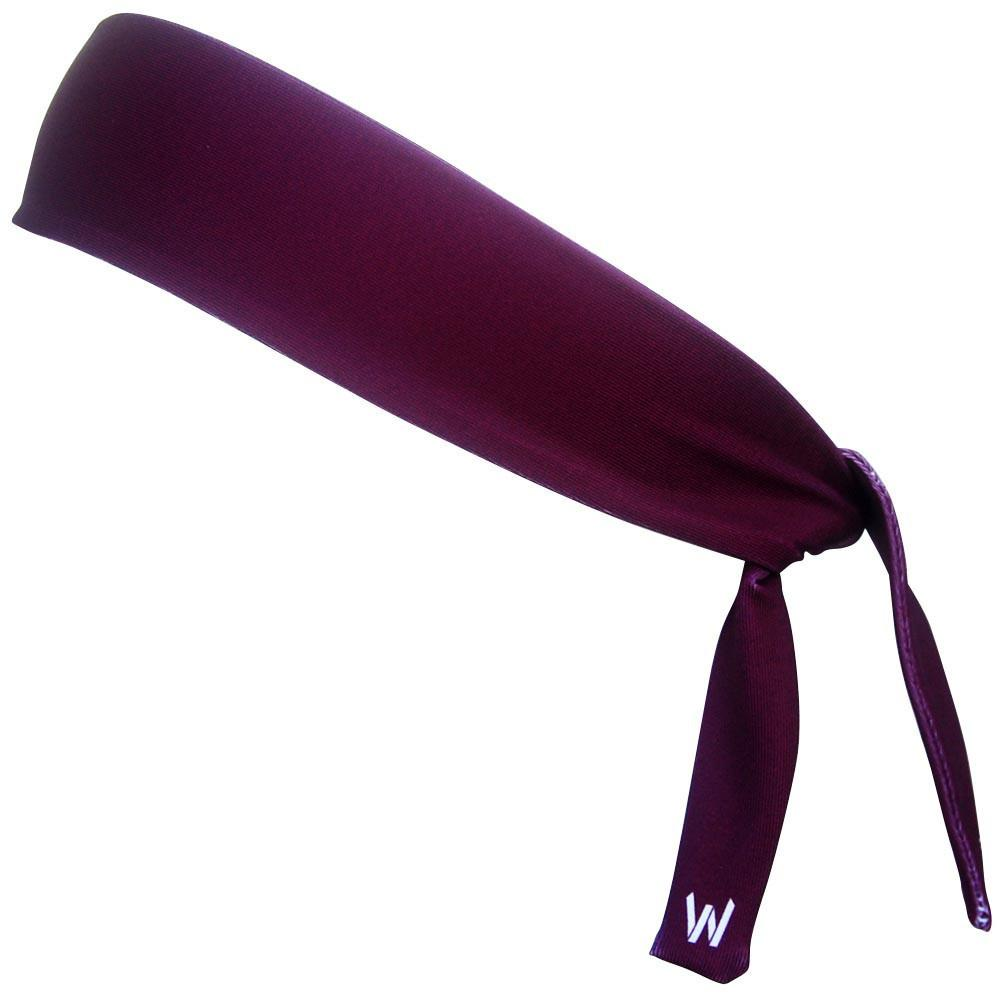 Maroon Elastic Tie 2.25 Inch Headband in Maroon by Wicked Headbands
